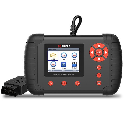[Ship from UK/EU No Tax] VIDENT iLink400 Full System Single Make Scan tool Support ABS/SRS/EPB//DPF Regeneration/Oil Reset