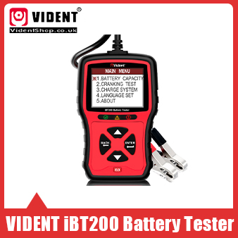 [Ship from UK/EU No Tax] VIDENT iBT200 12V/24V Battery Tester 100 to 2000CCA Car Battery Analyzer Multi-Languages